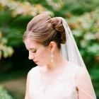 Wedding hair styles with veil