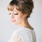 Wedding hair with fringe