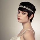 Wedding headbands for short hair