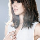 Medium length haircuts with bangs for women