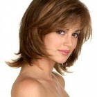 Short to medium length haircuts with bangs