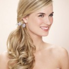 Wedding hair for bridesmaid