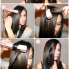 Hairstyles using a straightener