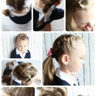 10 easy hairstyles for school