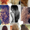 Hairstyles after curling hair