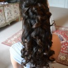 Hairstyles half up half down with curls