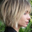 Short layered haircuts with bangs 2020