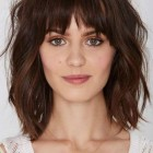 Medium layered haircuts with bangs 2019