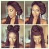 Cute updos for braids