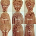 Different plait hairstyles