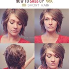 Hairstyles for short hair at home