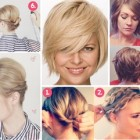 Home hairstyles for short hair