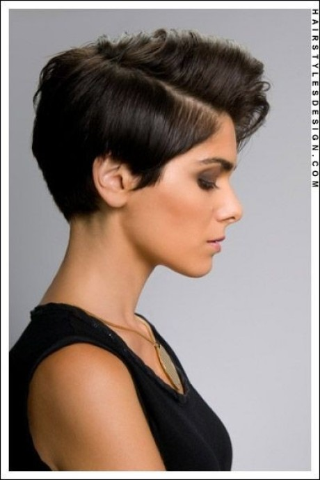 Pixie cut with volume