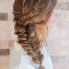 Regular braids hairstyles