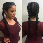 Two braid hairstyle