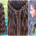 Waterfall braid styles