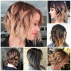 The newest hairstyles for 2018