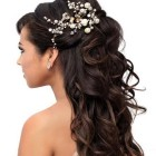 Bridal wedding hairstyle for long hair