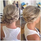 Bridesmaid side updos