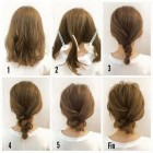 Bun hairstyles for medium hair
