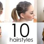 Easy everyday hairstyles for layered hair