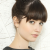 Easy updo with bangs