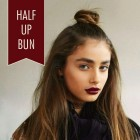 Hair up in a bun