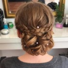 Homecoming updos for long hair