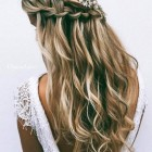 Long bridesmaid hair