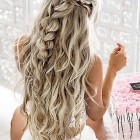 Long hair prom styles 2018