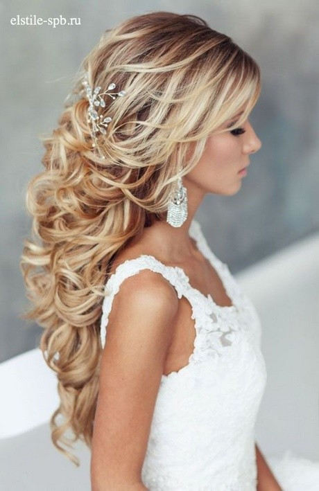 Long hairstyles for wedding bride