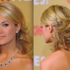 Medium hair evening hairstyles