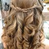 Prom hairstyles for long hair with braids and curls