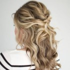Shoulder length prom hair