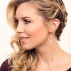 Side hair updo