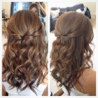 Simple bridal hairstyle