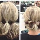 Simple hair updos for short hair