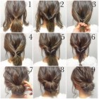 Simple hairstyle for wedding party