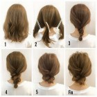 Up hairdos for shoulder length hair