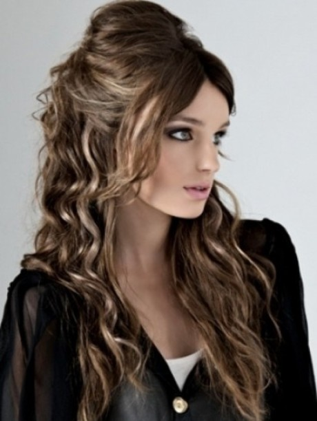 Ways to style long thick hair