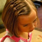 Hairstyles for short hair kids girls