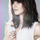 Mid length hair with bangs