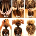 Quick upstyles for long hair