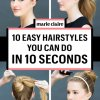 Simple fast hairstyles