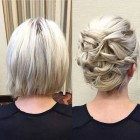 Classy updos for short hair