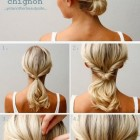 Easy hair up ideas for long hair