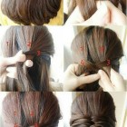 Easy hairstyles for straight hair at home