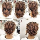 Easy to do updos for medium length hair