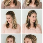Quick and easy long hairstyles