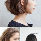 Simple hairdo for short hair